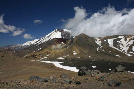 tongariro: Ngauruhoe volc�n Cumbre en Parque Nacional de Tongariro