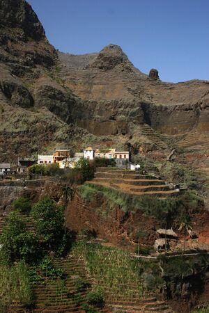 cape verde: Ribeira das Fonteinhas, a small village in Cape verde island of Sao Antao