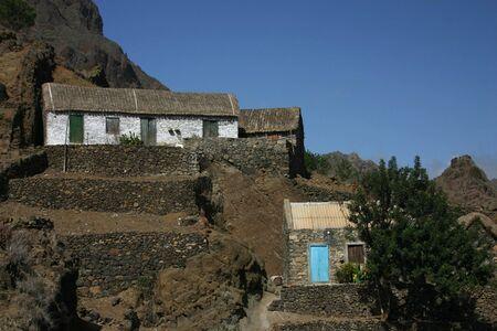 Farm in Cape verde island of Sao Antao Stock Photo