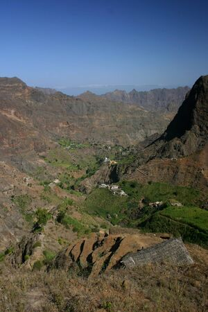 In the mountains of Cape verde island of Sao Antao