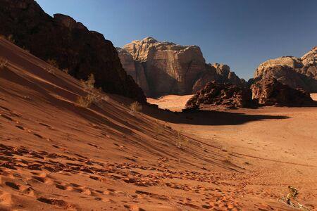 Red dune in Wadi Rum desert Stock Photo