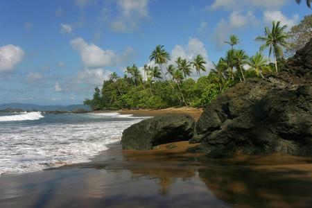 Pacific coast in Corcovado park