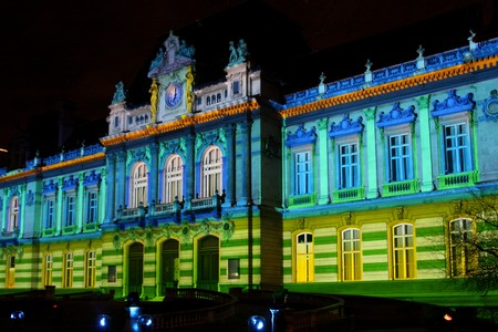 Festival of Lights of Lyon on the Prefecture walls