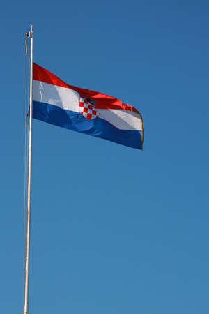 croatian: Red White and blue croatian flag