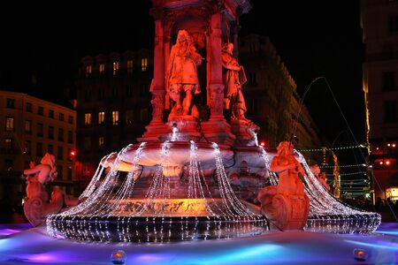 lyon: LYON, FRANCE - DECEMBER 9 : The annual festival of Lights takes place in the streets of the city of Lyon