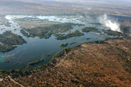 Victoria Falls from the sky  Stock Photo