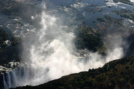 Victoria Falls from the sky Stock Photo - 8700152
