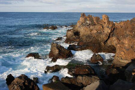 shoreline: Tenerife shoreline Stock Photo