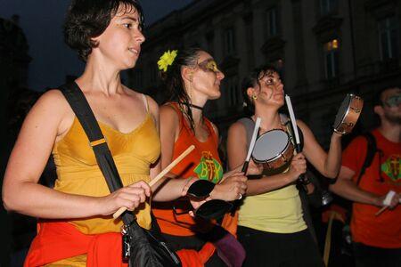musique: Amateur musicians play during Fete de la Musique, in lyon, on June, 21, 2011 Editorial
