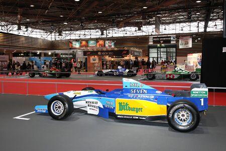 Old Formula One Grid at Lyon Motor Show Stock Photo - 10808196