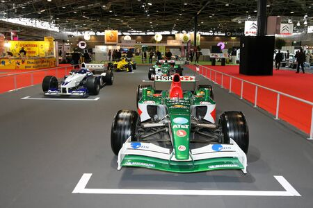 Old Formula One Grid at Lyon Motor Show Stock Photo - 10808192