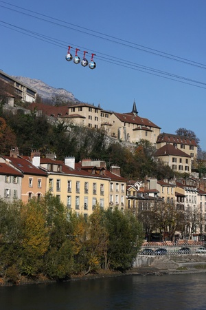 Grenoble Cable car over the river