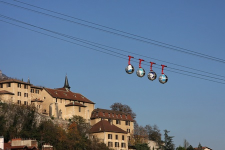 Grenoble Cable car Stock Photo