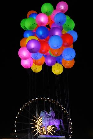 LYON, FRANKREICH - 8. Dezember: Das jährliche Festival of Lights findet in den Denkmälern der Stadt Lyon, am 8. Dezember 2011 in Lyon, Frankreich