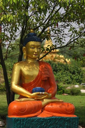 Buddha in Lumbini, Nepal photo