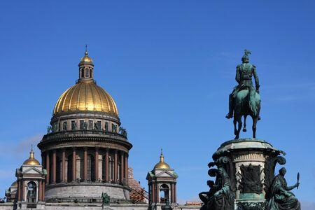 Saint Isaacs Cathedral and Nicolas I Statue