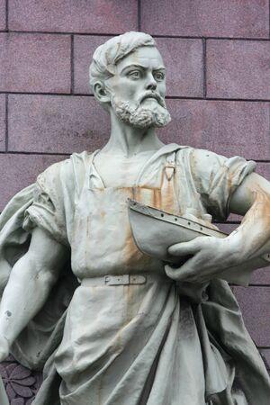 emporium: Sculpture of Eliseyev Emporium on Nevski Perspective, Saint Petersburg Stock Photo