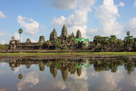 Reflections of Angkor Wat Temple photo