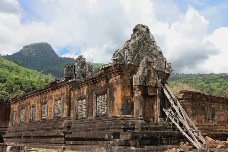 Vat Phou Temple, South Laos Stock Photo