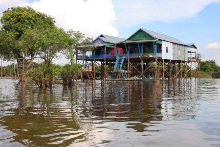 tonle sap: Kampong Phluk, the floating village of Tonle Sap lake
