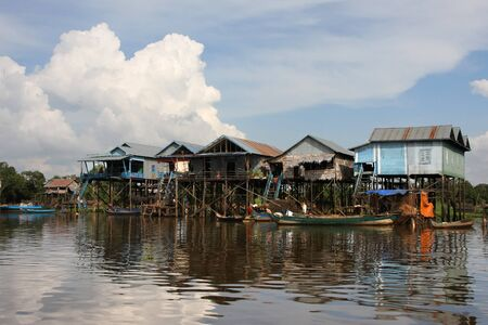 Kampong Phluk, the floating village of Tonle Sap lake