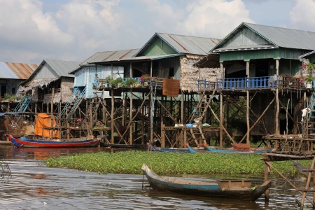 Fishing boat at Kampong Phluk, the floating village photo