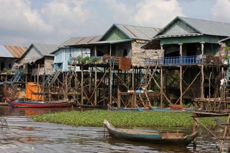 Fishing boat at Kampong Phluk, the floating village