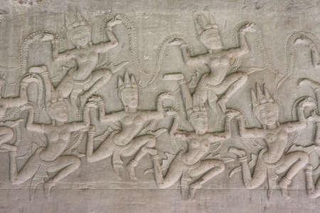 Angkor Wat Heaven sculptures Stock Photo - 17380776