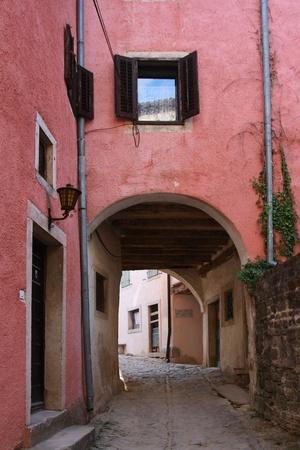 passageway: Passageway in a village