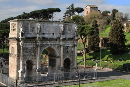 constantine: Triumphal Arch of Constantine Editorial