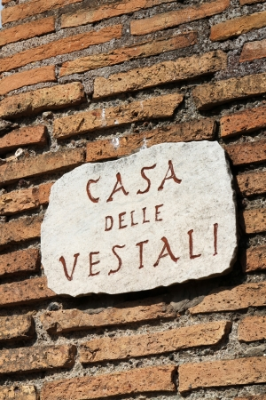 vestal: The House of the Vestal Virgins (Atrium Vestae) was the residence of Vestal Virgins, near the Temple of Vesta