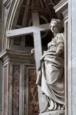 st peter: St Peter Basilica statue Stock Photo
