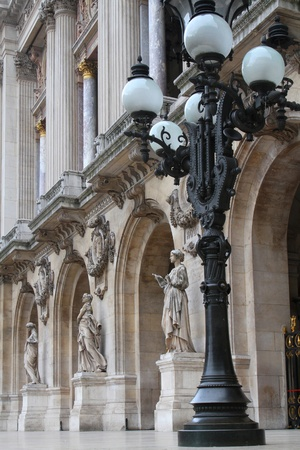 garnier: Opera Garnier Entrance in Paris Stock Photo