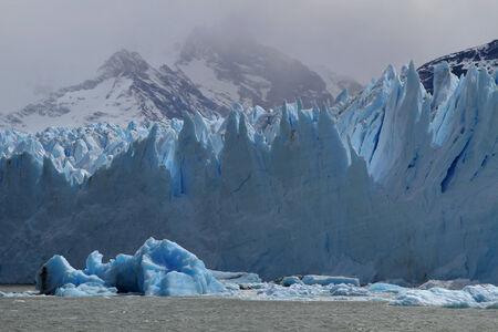 icefield: The Perito Moreno Glacier in the Los Glaciares National Park Stock Photo