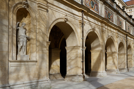 housed: LYON, FRANCE, March 7, 2015 : The Museum of Fine Arts of Lyon (Musee des beaux-arts de Lyon) is a municipal museum in Lyon. It is housed near place des Terreaux in a former Benedictine convent. Editorial