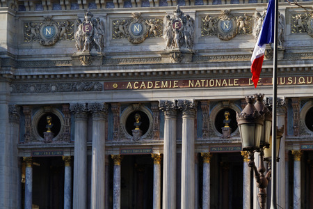 palais garnier: PARIS, FRANCE, March 12, 2015 : The Palais Garnier is a two-thousand-seat opera house, which was built from 1861 to 1875 for the Paris Opera. The Palais Garnier is probably the most famous opera house in the world and a symbol of Paris