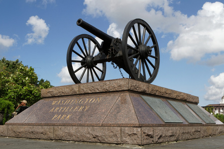 NEW ORLEANS LOUISIANA May 5 2015 : Headquartered in New Orleans Louisiana the Washington Artillery was founded in 1838. A detachment was mobilized to New Orleans to aid law enforcement with rescue efforts after Hurricane Katrina.