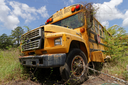breakin: NATCHEZ MISSISSIPPI May 7 2015 : School bus cemetery. School buses provide an estimated 10 billion student trips every year. Editorial