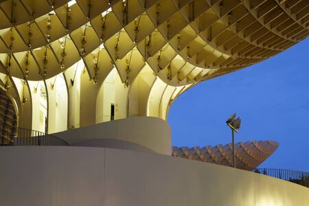 metropol parasol: SEVILLE, SPAIN, October 24, 2015 : Metropol Parasol is a wooden structure designed by the German architect Mayer-Hermann and completed in April 2011. The building is popularly known as Las Setas de la Encarnacin. Editorial