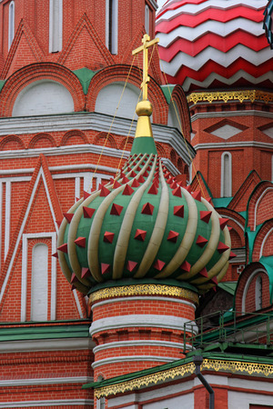 vasily: MOSCOW, Russia, August 18, 2012 : The Cathedral of Vasily the Blessed, commonly known as Saint Basils Cathedral, is a church in Red Square in Moscow, Russia Editorial