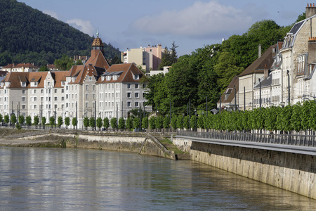 BESANCON, FRANCE, May 15, 2016: Besancon has-been Labeled a Town of Art and History. Since 2008, Besancons Vauban citadel has-been listed as a UNESCO World Heritage Site. Editorial