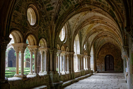 former years: FONTFROIDE, FRANCE, May 28, 2016 : Fontfroide Abbey or Abbaye Sainte-Marie de Fontfroide is a former Cistercian monastery. It has been restored over a number of years and used as a centre for artistic projects. Editorial