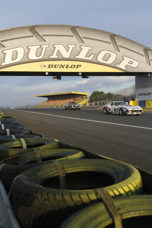 24 month old: LE MANS, FRANCE, July 10, 2016 : Ancient racing car races during Le Mans Classic on the circuit of the 24 hours. No other event in the world assembles so many old racing cars in the same place.