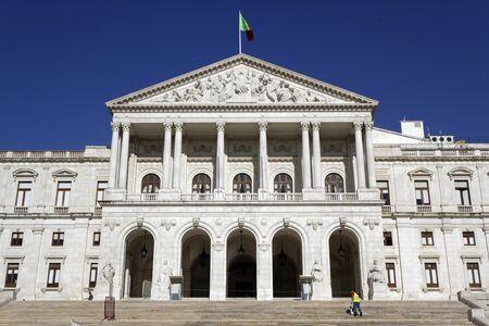 parliaments: LISBON, Portugal, April 8, 2017 : Palacio de Sao Bento. Close to Bairro Alto, the Palace of Sao Bento has historically been the seat of the former Portuguese parliaments Editorial