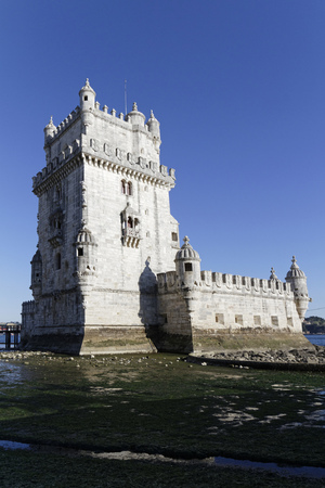 LISBON, Portugal, April 6, 2017 : The Belem Tower is a UNESCO World Heritage Site because of the significant role it played in the Portuguese maritime discoveries of the era of the Age of Discoveries. Sajtókép
