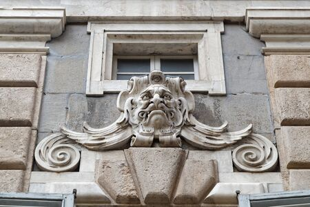 GENOA, Italy, June 5, 2017 : City hall of Genoa architectural detail. Genoa is the capital of the Italian region of Liguria and the sixth-largest city in Italy.