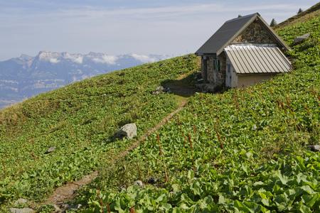 Cabane pastorale du Colon. The pastoral Hut of the Grand Colon