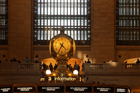 NEW YORK CITY, USA, September 10, 2017 : Grand Central Terminal (also referred to simply as Grand Central or incorrectly as Grand Central Station) is a commuter, rapid transit, and intercity railroad terminal in Midtown Manhattan.