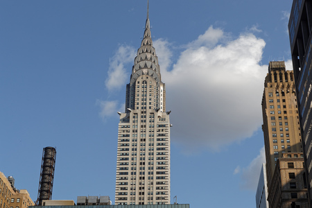 NEW YORK CITY, USA, September 10, 2017 : The Chrysler Building is an Art Deco-style skyscraper on the East Side of Midtown Manhatt. The structure was the worlds tallest building before it was surpassed by the Empire State Building.