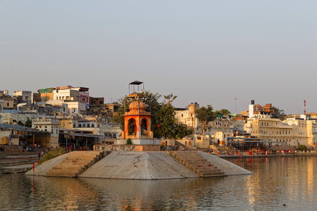PUSHKAR, INDIA, October 29, 2017 : The peak celebrations of the fair occur on the full moon day of Kartik. This period sees an influx of Hindu pilgrims who visit the temples and take a dip in the Pushkar lake.